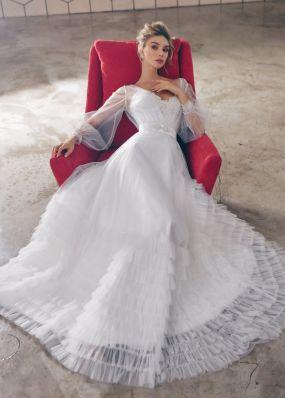 Свадебное платье с юбкой с оборками ZTB015