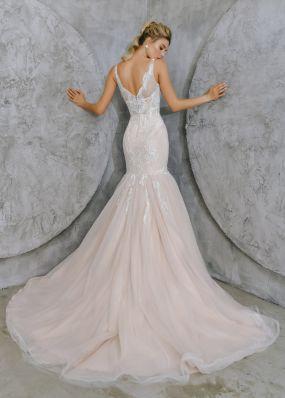 Стильное свадебное платье-русалка ZTB019