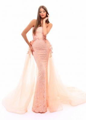 Вечернее платье с шлейфом TarikEdiz ZTZ005B