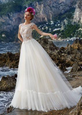 Свадебное платье с кружевной спиной ZVS007