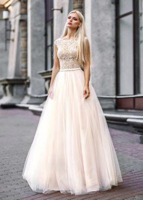 Летнее свадебное платье с расшитым кружевом ZVT003