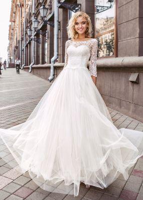 Свадебное платье с фатиновой юбкой ZVT005