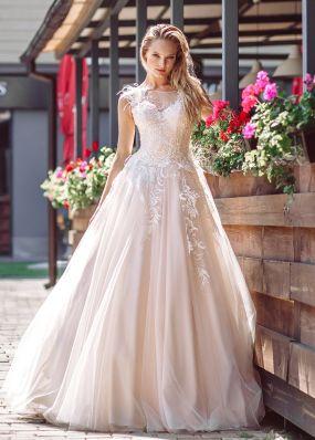 Свадебное платье с перышками ZVT015