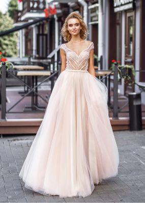 Свадебное платье с расшитым верхом ZVT021