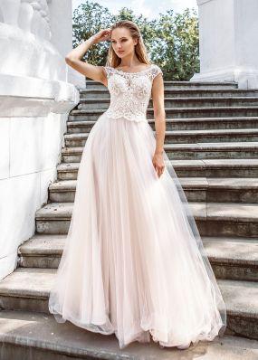 Свадебное платье с расшитым корсетом ZVT022
