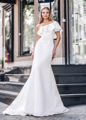 Свадебное платье из стрейч-атласа ZVT035