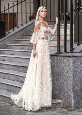 Свадебное платье с корсетом ZVT036