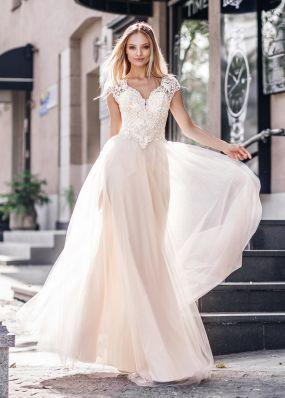Свадебное платье с заниженной талией ZVT038
