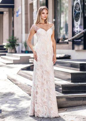 Расшитое свадебное платье ZVT043