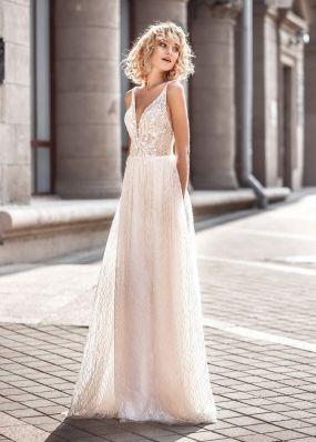 Прямое свадебное платье с открытой спиной ZVT053