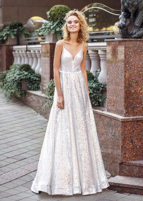 Свадебное платье из мягкого глиттера ZVT054