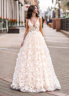 Свадебное платье из 3D-кружева ZVT057