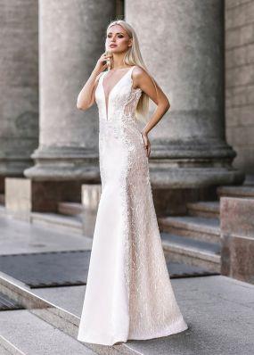 Свадебное платье из кружева с шелковой нитью ZVT058