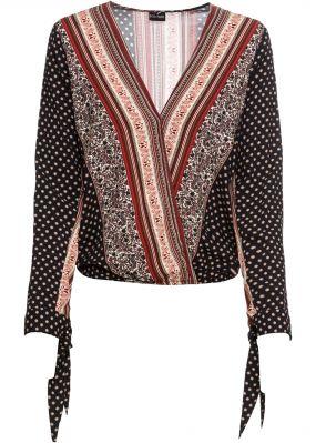 Блузка с запахом-обманкой