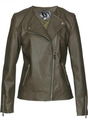 Куртка байкерская из кожезаменителя