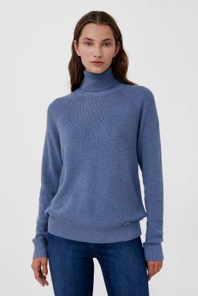 женский свитер прямого силуэта с шерстью