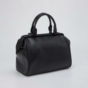 Саквояж, отдел на молнии, наружный карман, длинный ремень, цвет чёрный