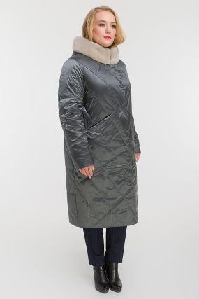 Длинное прямое демисезонное пальто для больших размеров