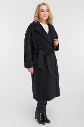 Итальянское пальто с кашемиром на большой размер