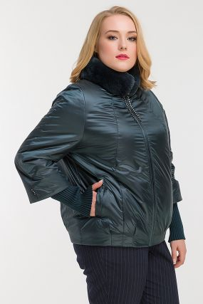 Куртка утепленная верблюжьей шерстью для больших размеров