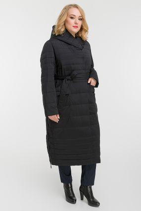 Осенне-зимнее длинное женское пальто на большой размер