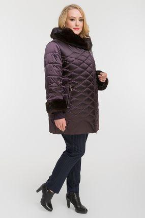 Модная утепленная куртка для больших размеров