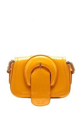Желтая сумка с обтяжной пряжкой