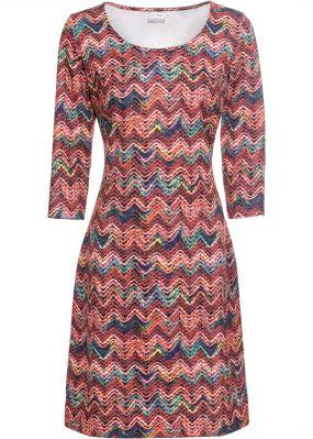 Платье-футляр с принтом