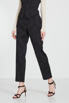 Черные жаккардовые брюки