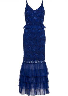 Вечернее платье макси с кружевом