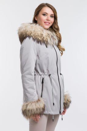 Женская куртка на тинсулейте с мехом