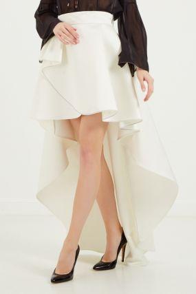 Асимметричная белая юбка