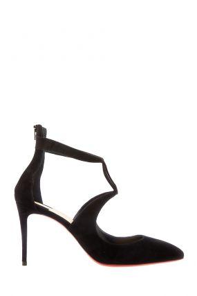 Открытые черные туфли Rosas 85