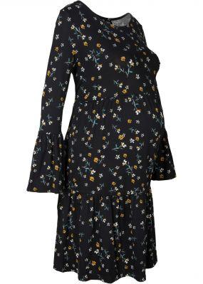 Платье для беременных, дизайн в цветочке