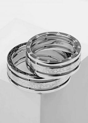 Обручальные кольца из белого золота BENDES 3037