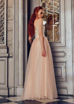 Свадебное платье с кружевным верхом ZWF014