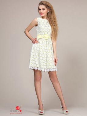 Платье LaVela, цвет белый, желтый