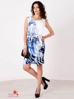 Платье Solh, цвет белый, синий