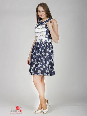 Платье Barlen, цвет темно-синий, белый