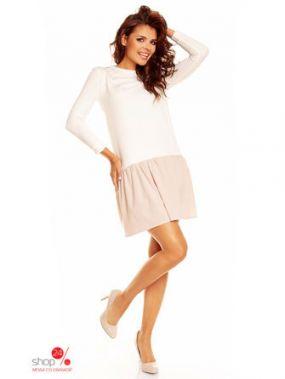 Платье Nommo, цвет бежевый, молочный