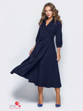 Платье Модный остров, цвет темно-синий