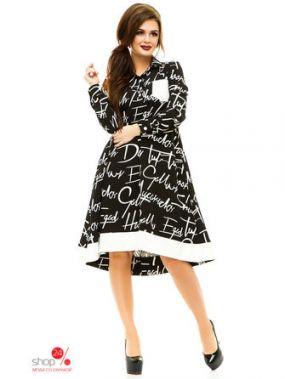 Платье Funky, цвет черный, белый
