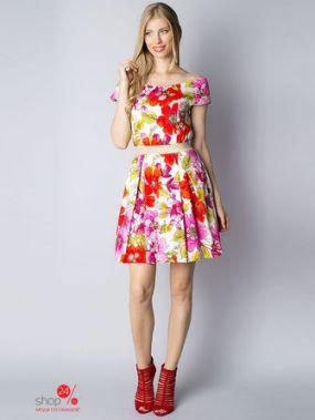 Платье Rinascimento, цвет белый, красный