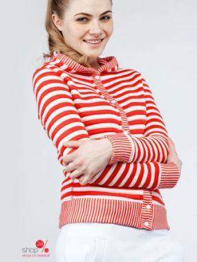 Толстовка BORODINA KSENIA, цвет красный, белый