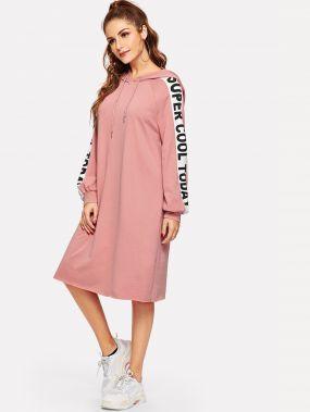Платье-свитшот с рукавами реглан