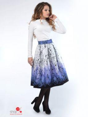Юбка LILA KASS, цвет фиолетовый, белый, черный