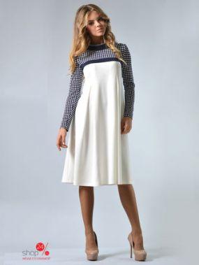 Платье LILA KASS, цвет молочный, синий