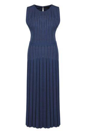 Приталенное джинсовое платье-миди Loro Piana