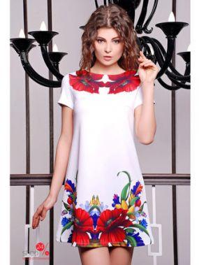 Платье Glem, цвет белый, красный