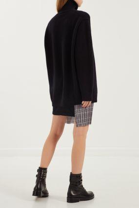 Асимметричная комбинированная юбка